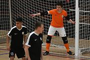 Capital keeper Sean Beresford in the Mens Futsal Superleague match, Central v Capital, Pettigrew Green Arena, Napier, Saturday, September 28, 2019. Copyright photo: Kerry Marshall / www.photosport.nz