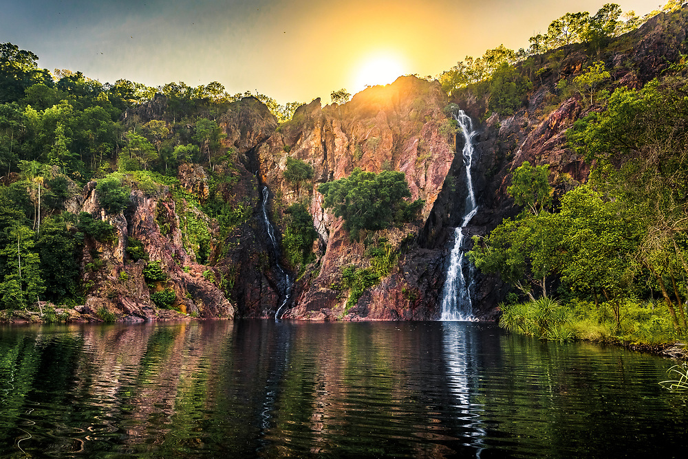 Sunrise over Florence Falls in  Litchfield National Park, Northern Territory