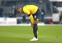 Photo: Chris Ratcliffe.<br /> Juventus v Arsenal. UEFA Champions League. Quarter-Finals. 05/04/2006. <br /> Thierry Henry watches on