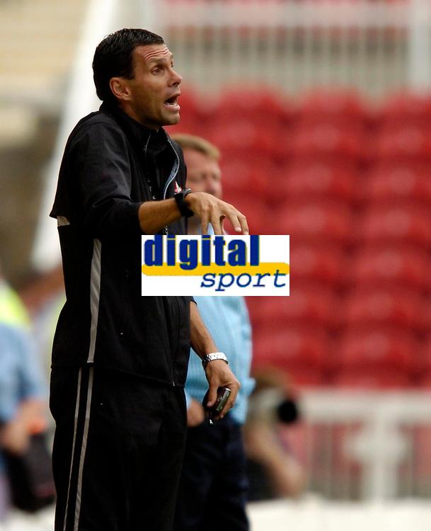 Photo: Richard Lane.<br />Swindon Town v Reading. Pre Season Friendly. 29/07/2006. <br />Swindon's assistant manager, Gus Poyet.