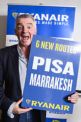 October 9, 2018 - Machelen, BELGIUM - Ryanair CEO Michael O'Leary poses for the photographer at a press conference of Irish low-cost airline Ryanair, Tuesday 09 October 2018 in Machelen. BELGA PHOTO LAURIE DIEFFEMBACQ (Credit Image: © Laurie Dieffembacq/Belga via ZUMA Press)
