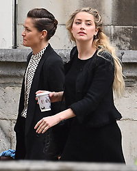 © Licensed to London News Pictures. 23/07/2020. London, UK. American Actors AMBER HEARD and JOHNNY DEPP arrive at the High Court in London, where Johnny Depp is in a legal dispute with UK tabloid newspaper The Sun over allegations he assaulted his former wife, Amber Heard. Photo credit: Ben Cawthra/LNP