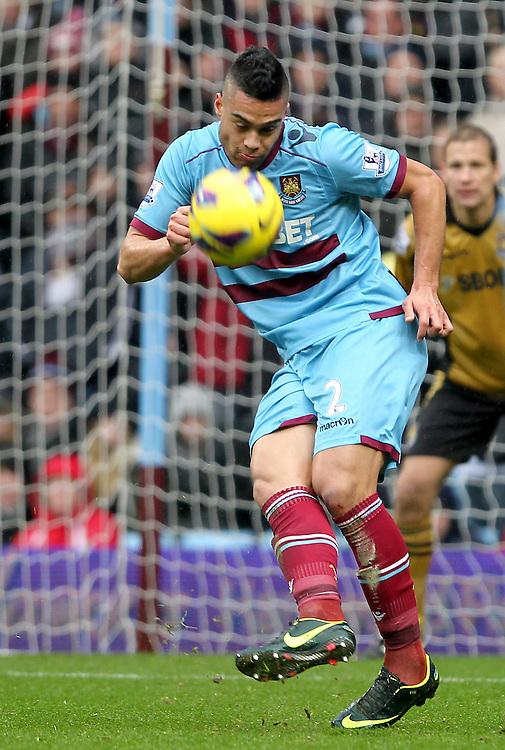 West Ham United's Winston Reid ..Football - Barclays Premiership - Aston Villa v West Ham United - Sunday 10th February 2013 - Villa Park - Birmingham..