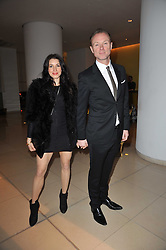 GARY & LAUREN KEMP at a Burns Night dinner in aid of cancer charity CLIC Sargent held at St.Martin's Lane Hotel, London on 25th January 2011.
