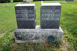 31 August 2017:   Veterans graves in Cheneys Grove Township Cemetery in eastern McLean County.<br /> <br /> Harvey Taylor  July 27, 1814  May 25  1857