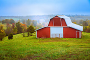 Barn in the Ozark Mountains area of Arkansas