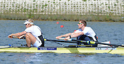 Reading. United Kingdom. GBR M2-, Bow. George NASH and Andy TWIGGS HODGE morning time trial, Redgrave and Pinsent Rowing Lake. Caversham.<br /> <br /> 11:05:30  Saturday  19/04/2014<br /> <br />  [Mandatory Credit: Peter Spurrier/Intersport<br /> Images]