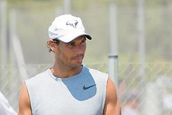 Rafael Nadal (ESP) practicing during the Mallorca Open at Country Club Santa Ponsa on June 22, 2018 in Mallorca, Spain. Photo Credit: Katja Boll/EVENTMEDIA.