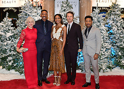 (left-right) Dame Helen Mirren, Will Smith, Naomie Harris, Edward Norton and Jacob Latimore attending the European premiere of Collateral Beauty, held at the Vue Leicester Square, London. PRESS ASSOCIATION Photo. Picture date: Monday 15th December, 2016. See PA Story SHOWBIZ Beauty. Photo credit should read: Ian West/PA Wire