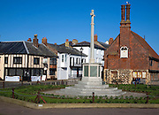 The Moot Hall is a timber-framed building which has been used for council meetings for over 400 years, Aldeburgh, Suffolk, England
