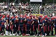 American Football: European League of Football, Hamburg Sea Devils - Berlin Thunder, Hamburg, 11.07.2021<br /> Huddle Team Sea Devils<br /> © Torsten Helmke
