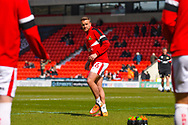 James Coppinger of Doncaster Rovers (26) warming up during the EFL Sky Bet League 1 match between Doncaster Rovers and Plymouth Argyle at the Keepmoat Stadium, Doncaster, England on 13 April 2019.