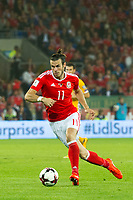 Football - 2018 World Cup - Qualifying 2016 / 2017 - Group D: Wales vs Moldova<br /> <br /> Gareth Bale attacks     …  at the Cardiff City Stadium<br /> <br /> pic colorsport/winston bynorth