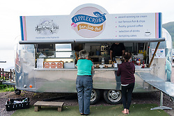 Mobile van cafe selling coffee and snacks in Applecross, Wester Ross, Scotland, united Kingdom