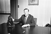 23rd April 1968<br /> <br /> Minister for Finance, Charles Haughey, prepares to administer some belt-tightening measures on Budget Day.