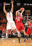 NC State's Scott Wood_Virginia held North Carolina State scoreless for more than 7 minutes on the way to a 59-47 victory Wednesday night at the John Paul Jones Arena in Charlottesville, VA. Virginia (14-6, 5-2 Atlantic Coast Conference) regained a share of first place in the conference. (Photo/Andrew Shurtleff)....