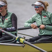 Sophie Deans (right)<br /> <br /> Crews prepare for Sunday's 165th Boat Race between Oxford and Cambridge, River Thames, London, Thursday 4th April 2019. © Copyright photo Steve McArthur / www.photosport.nz