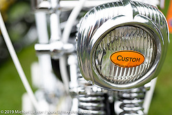 Richard Larsson's (of Sweden) Harley-Davidson Panhead at the Twin Club's annual Custom Bike Show in Norrtälje, Sweden. Saturday, June 1, 2019. Photography ©2019 Michael Lichter.