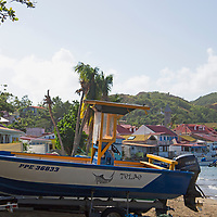 France, Guadeloupe, Les Saintes. Boats and Beach of Les Saintes, Guadeloupe.