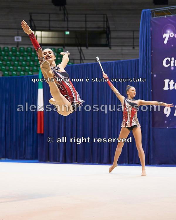 "Italian rhythmic gymnastics senior group during the ""7th tournament city of Desio"", 09 March 2019."