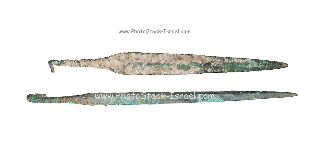 Bronze spear heads 2nd millennium BC 24-27 cm long