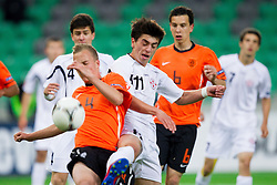 Jorrit Hendrix of Netherlands vs Dato Dartsimelia of Georgia during the UEFA European Under-17 Championship Semifinal match between Netherlands and Georgia on May 13, 2012 in SRC Stozice, Ljubljana, Slovenia. (Photo by Vid Ponikvar / Sportida.com)