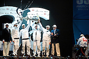 Valencia 14th February 2010, Handover of the Amercicas Cup from Societe Nautique de Geneve to Golden Gate Yacht Club, followed by the pressconference