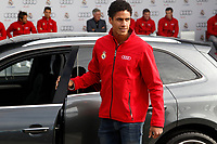Varane participates and receives new Audi during the presentation of Real Madrid's new cars made by Audi in Madrid. December 01, 2014. (ALTERPHOTOS/Caro Marin)