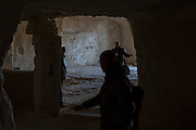 Tourist visiting an ols Sasso di Matera