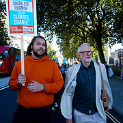Jeremy Corbyn march at the Global Climate Change, Parliament square, London, UK on 23rd September 2021.