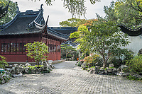 Shanghai, China - April 7, 2013: detail of the historic Yuyuan Garden created in the year 1559 by Pan Yunduan in Shanghai China