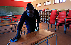 South Africa - Johannesburg - 28 May 2020  COVID-19 Khauhelo Junior primary School in Naledi Soweto sanitized in preparation of the 1st phase opening on the 1st of June 2020 after the nationwide lockdown that started on the 26th of March 2020. Photo Simphiwe Mbokazi African NewsAgency