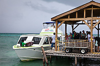 Regular boat services arrive from Belize City to the island paradise of Caye Caulker.