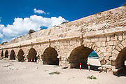 Israel, Caesarea Aqueduct built by the Romans was the water source to the Roman city
