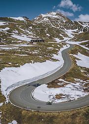 THEMENBILD - ein Motorradfahrer auf der Strasse mit der schneebedeckten Berglandschaft. Die Hochalpenstrasse verbindet die beiden Bundeslaender Salzburg und Kaernten und ist als Erlebnisstrasse vorrangig von touristischer Bedeutung, aufgenommen am 27. Mai 2020 in Fusch a.d. Glstr., Österreich // Motorcyclists on the road with the mountain landscape covered with Snow. The High Alpine Road connects the two provinces of Salzburg and Carinthia and is as an adventure road priority of tourist interest, Fusch a.d. Glstr., Austria on 2020/05/27. EXPA Pictures © 2020, PhotoCredit: EXPA/ JFK