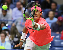 September 3, 2017 - New York, New York, U.S. - RAFAEL NADAL of Spain in action during the 2017 U.S. Open Tennis Championships at the USTA Billie Jean King National Tennis Center.(Credit Image: © Panoramic via ZUMA Press)