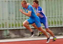 Matic Osovnikar  during men 100 m at Slovenian National Championships in athletics 2010, on July 17, 2010 in Velenje, Slovenia. (Photo by Vid Ponikvar / Sportida)