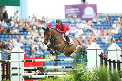 Augier De Moussac Emma, (CZE), Charly Brown<br /> Team Competition round 1 and Individual Competition round 1<br /> FEI European Championships - Aachen 2015<br /> © Hippo Foto - Stefan Lafrentz<br /> 19/08/15