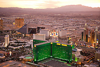 Aerials of MGM Grand and Las Vegas Hotels