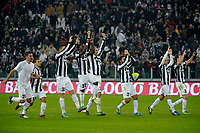 la squadra esulta Juventus.Calcio Juventus vs Atalanta.Serie A - Torino 16/12/2012 Juventus Stadium .Football Calcio 2012/2013.Foto Federico Tardito Insidefoto.