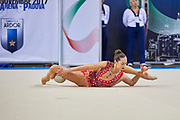 Katsiarina Halkina from Raffaello Motto team during the Italian Rhythmic Gymnastics Championship in Padova, 25 November 2017.