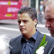 NLD/Amsterdam/20110722 - Afscheidsdienst voor John Kraaijkamp, kleinkind Joep Kraaijkamp