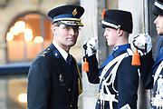 Zijne Majesteit Koning Willem-Alexander en Hare Majesteit Koningin Máxima houden de traditionele Nieuwjaarsontvangst voor Nederlandse genodigden in het Koninklijk Paleis Amsterdam met de aankomst van politici<br /> <br /> op de foto:    Korpschef Erik Akerboom