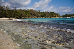 The Winnifred beach, a popular site near the Geejam, a luxury boutique hotel with a state of the art recording studio that has attracted famous musicians to make their albums.