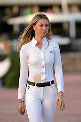 WELLINGTION, FL - FEBRUARY 10: SATURDAY NIGHT LIGHTS – $384,000 FIDELITY INVESTMENTS® GRAND PRIX CSI 5*. Eve Jobs is the youngest child of late Apple founder Steve Jobs sighted on February 10, 2018 in Wellington, Florida. CAP/MPI122 ©MPI122/Capital Pictures. 10 Feb 2018 Pictured: Eve Jobs. Photo credit: MPI122/Capital Pictures / MEGA TheMegaAgency.com +1 888 505 6342