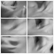 Abstract views of a womans neck, Black and white.