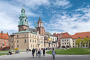 Kraków, 08.05.2016 (woj. małopolskie). Zamek Królewski na Wawelu.