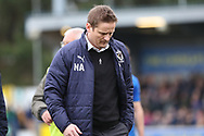 AFC Wimbledon manager Neal Ardley walking off the pitch during the EFL Sky Bet League 1 match between AFC Wimbledon and Oxford United at the Cherry Red Records Stadium, Kingston, England on 10 March 2018. Picture by Matthew Redman.