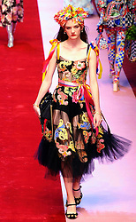 DOLCE E GABBANA FASHION SHOW, MILAN FASHION WEEK. 24 Sep 2017 Pictured: DOLCE E GABBANA FASHION SHOW, MILAN FASHION WEEK. Photo credit: Fotogramma / MEGA TheMegaAgency.com +1 888 505 6342