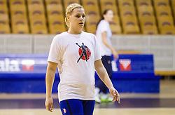 Ana Petrinja during practice session of Slovenian Women handball National Team three days before match against Serbia, on October 24, 2013 in Arena Tivoli, Ljubljana, Slovenia. (Photo by Vid Ponikvar / Sportida)